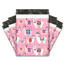 Load image into Gallery viewer, 10x13 Extra Thick Heavy Duty Lovely Llama Designer Poly Mailers Shipping Envelopes Premium Printed Bags