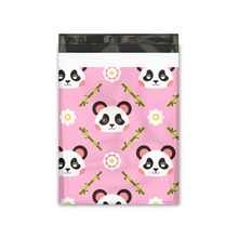 Load image into Gallery viewer, 10x13 Pink Panda Designer Poly Mailers Shipping Envelopes Premium Printed Bags