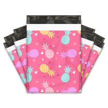 Load image into Gallery viewer, 10x13 Pink Pineapple Designer Poly Mailers Shipping Envelopes Premium Printed Bags