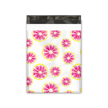 Load image into Gallery viewer, 10x13 Pink Citrus Designer Poly Mailers Shipping Envelopes Premium Printed Bags