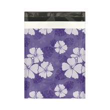 Load image into Gallery viewer, 10x13 Purple Hibiscus Flower Designer Poly Mailers Shipping Envelopes Premium Printed Bags