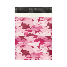 Load image into Gallery viewer, 10x13 Pink Camo Designer Poly Mailers Shipping Envelopes Premium Printed Bags