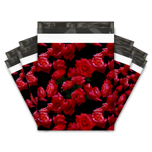 Load image into Gallery viewer, 10x13 Red Roses Designer Poly Mailers Shipping Envelopes Premium Printed Bags