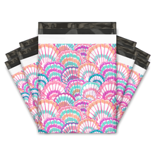 Load image into Gallery viewer, 10x13 Seashells Designer Poly Mailers Shipping Envelopes Premium Printed Bags