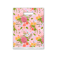 Load image into Gallery viewer, 9x12 Floral Roses Designer Poly Plastic Merchandise Bags Premium Printed Bags