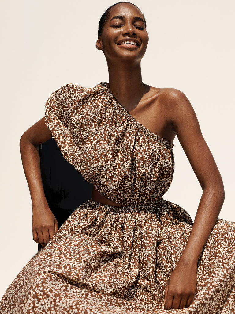 Tami Williams wears our One Shoulder Cocoon Dress photographed by Alexandra Nataf