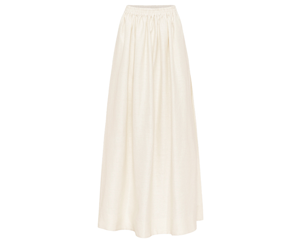 The Gathered Linen Skirt
