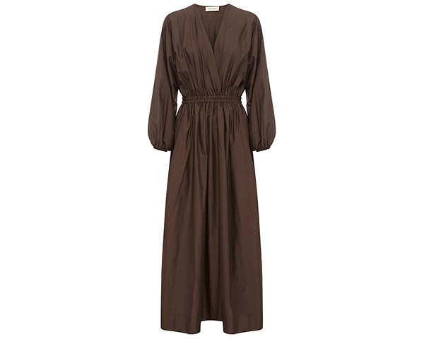 The Gathered Plunge Dress