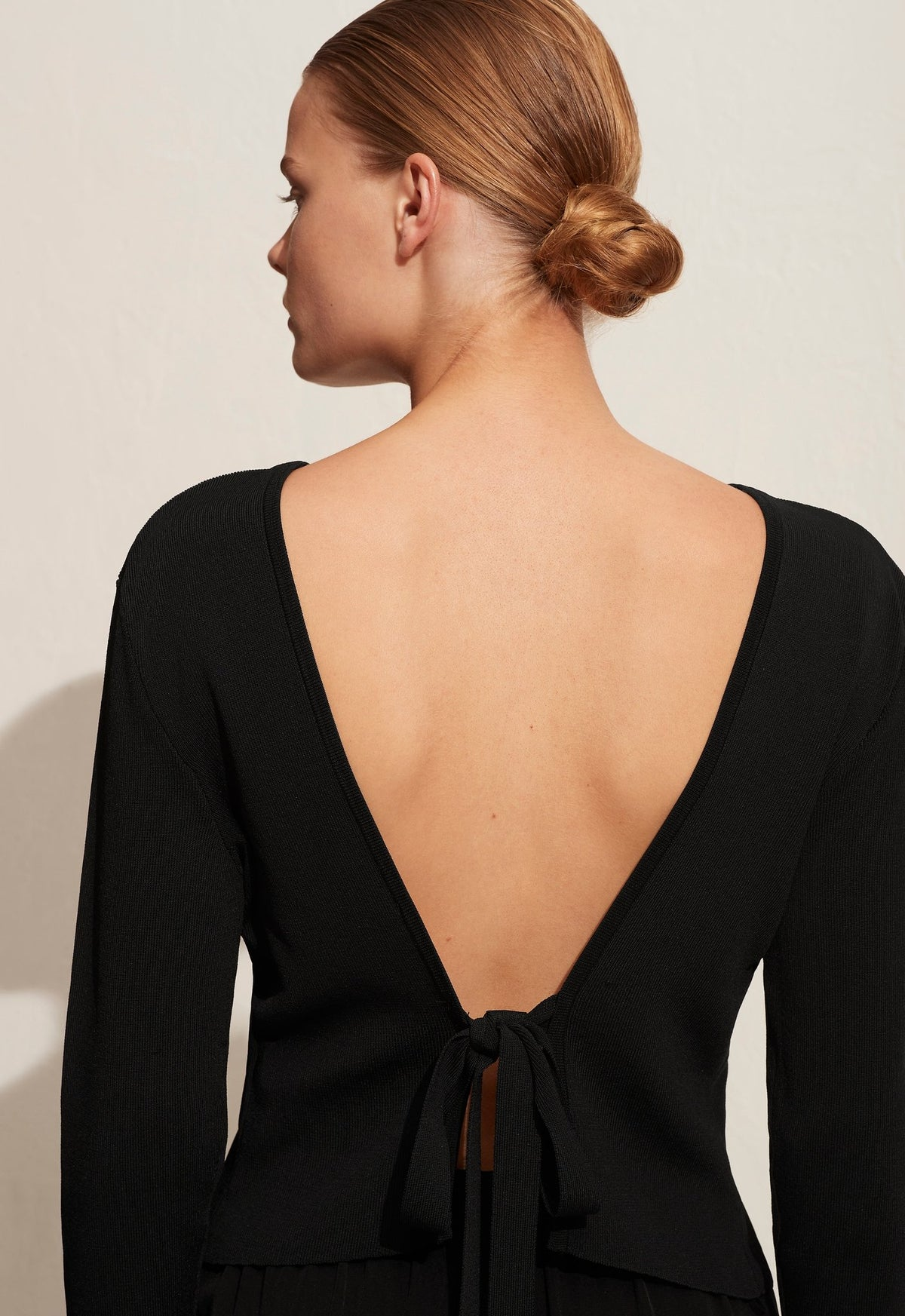 The Backless Knit Blouse