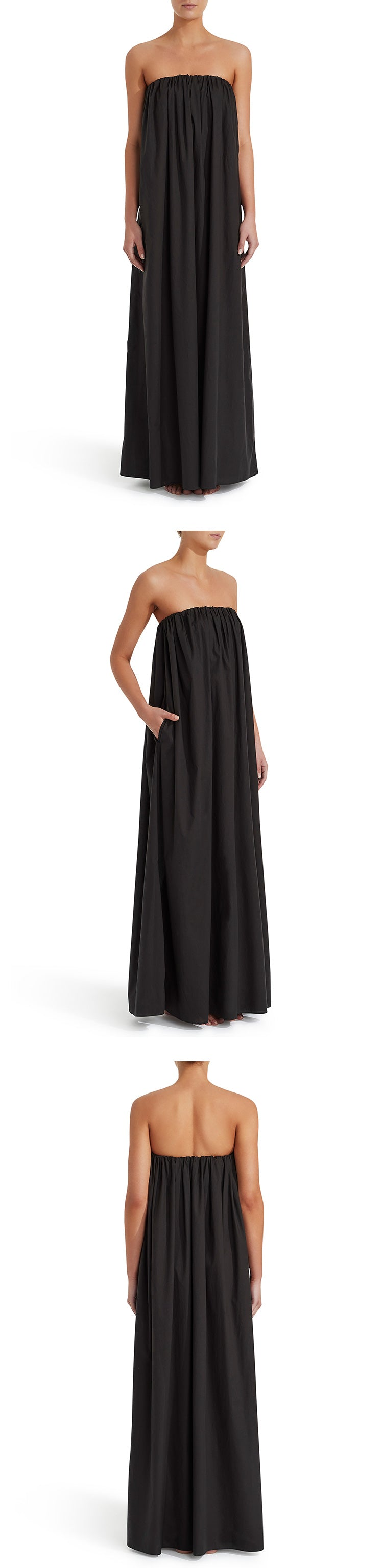 The Strapless Voluminous Dress