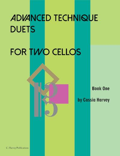 Advanced Technique Duets for Two Cellos: improve your cello playing together!