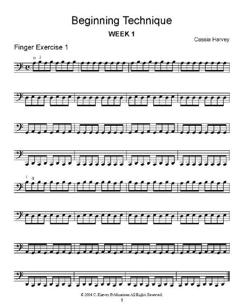 Beginning Technique for the Cello - PDF download