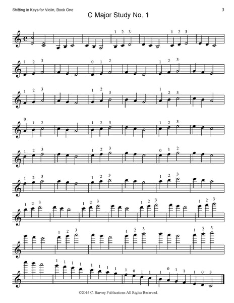 Shifting in Keys for Violin, Book One - PDF Download