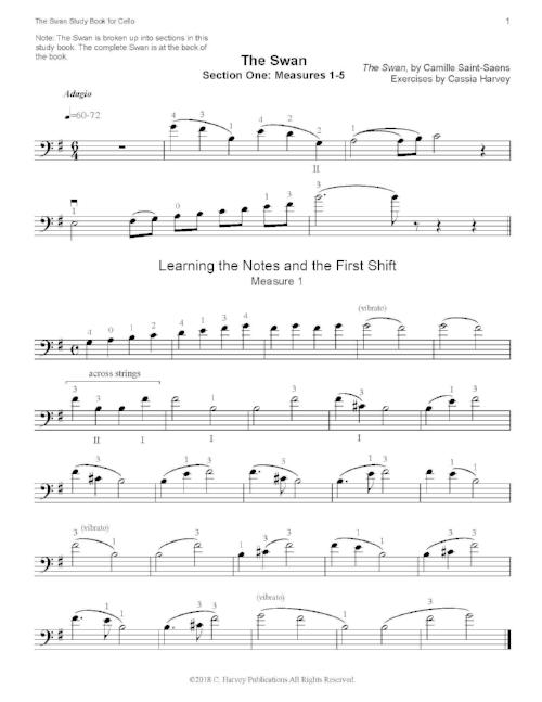 The Swan Study Book for Cello - PDF download