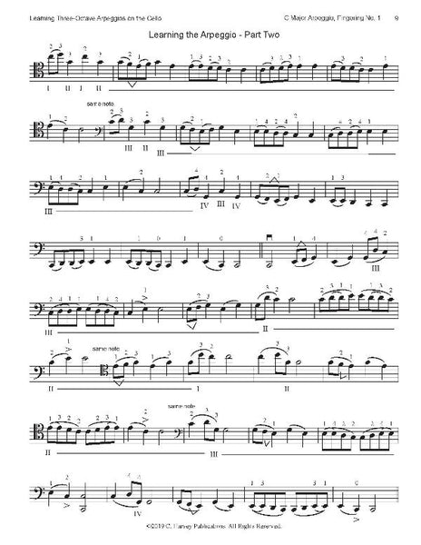Learning Three-Octave Arpeggios on the Cello - PDF download