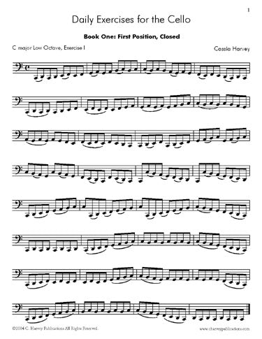 Daily Exercises for the Cello, Book One: faster fingers and better bowing on the cello.