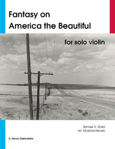 "Fantasy on ""America the Beautiful"" for Solo Violin - PDF Download"