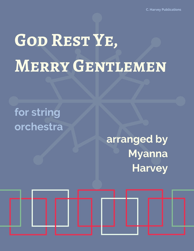 God Rest Ye Merry Gentlemen: A Carol for String Orchestra - PDF download