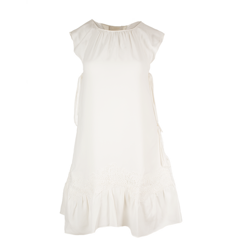 CHLOE Guipure Lace Silk Mini Dress