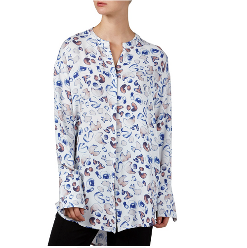 FWRD THE LABEL Annabel Leopard Watercolour Shirt