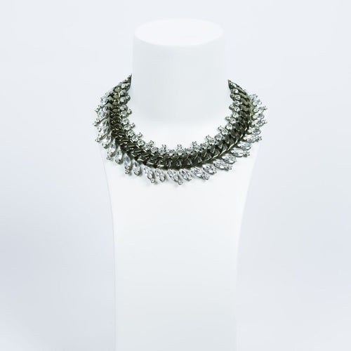 GIVENCHY Brass And Crystal Collar Necklace