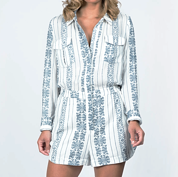 ZIMMERMANN Ryker Crosshatch Playsuit