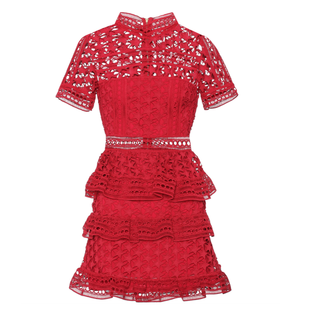 SELF PORTRAIT Star Guipure Lace Dress