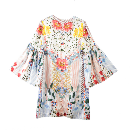 THURLEY Silk Floral Dress