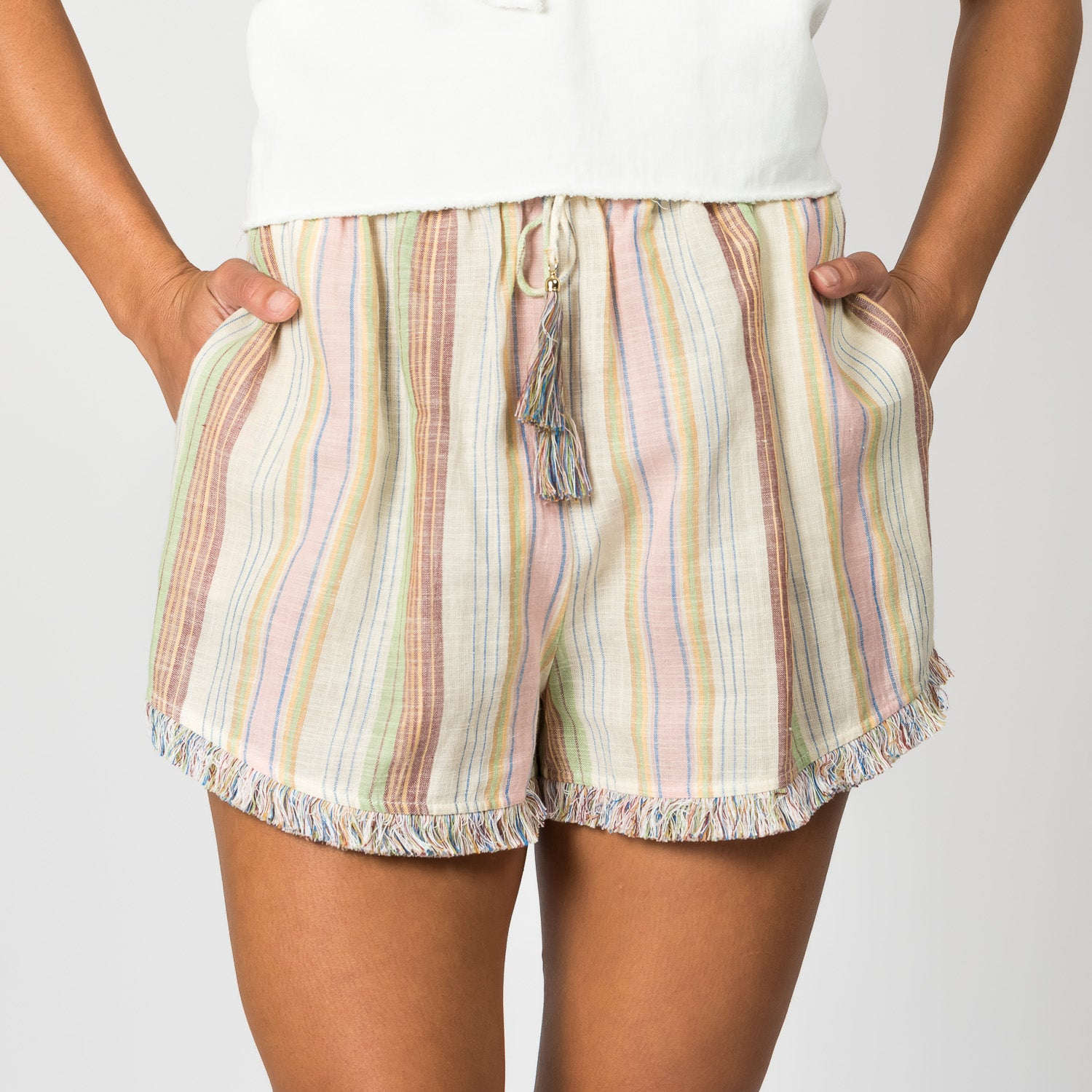 ZIMMERMANN Linen and Cotton Shorts