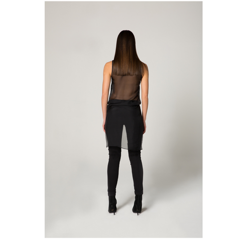 STANZEE 'Phoenix Rider' Stretch Leather and Jersey Pants
