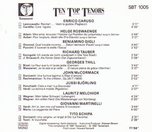 TEN TOP TENORS - SBT 1005