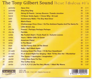 "TONY GILBERT  ""Those Fabulous 40's"" - CDTS 188"