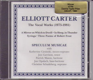 ELLIOTT CARTER ... BCD 9014