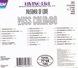 "Russ Columbo ""Prisoner Of Love"" - CD AJA 5234"