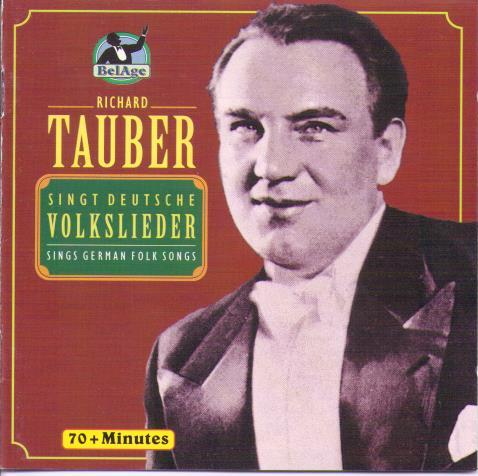 RICHARD TAUBER 'Sings German Folk Songs' BLA 103.002
