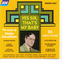 "Walter Donaldson ""Yes Sir, That's My Baby"" - CD AJA 5206"