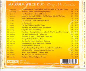 MALCOLM WILCE DUO 'Bring Me Sunshine' CDTS 168