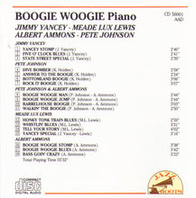 BOOGIE WOOGIE Piano - CD 56001