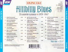 HILLBILLY BLUES '25 Country Classics' CD AJA 5361