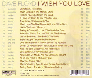"DAVE FLOYD ""I Wish You Love"" CDTS 138"