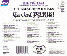 "The Great French Stars ""Ca c'est PARIS! - CD AJA 5285"