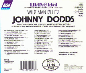 "JOHNNY DODDS ""Wild Man Blues"" CD AJA 5252"