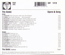 Tito Gobbi - Opera & Song - SBT 1019