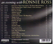 "RONNIE ROSS ""an evening with"" - CDTS 177"