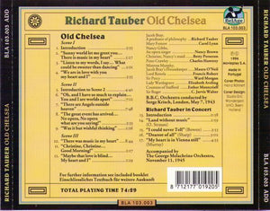 RICHARD TAUBER 'Old Chelsea' BLA 103.003