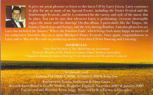 "LARRY GREEN ""Fields of Gold"" CDTS 156"