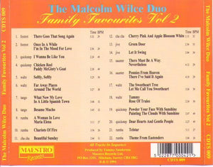 THE MALCOLM WILCE DUO 'Family Favourites Vol. 2' CDTS 009