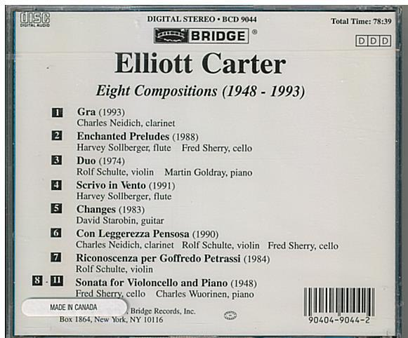 elliott carter bcd 9044