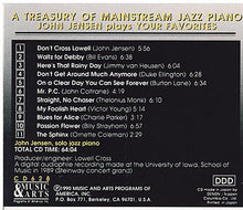 "JOHN JENSEN ""A Treasury of Mainstream Jazz Piano' - MACD 628"