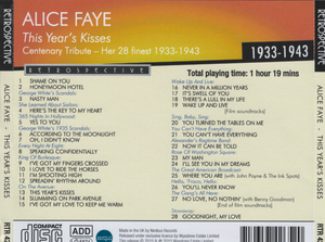 ALICE FAYE 'This Year's Kisses ' RTR 4265